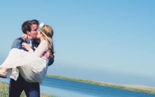 Wedding photographer working on Fanoe island