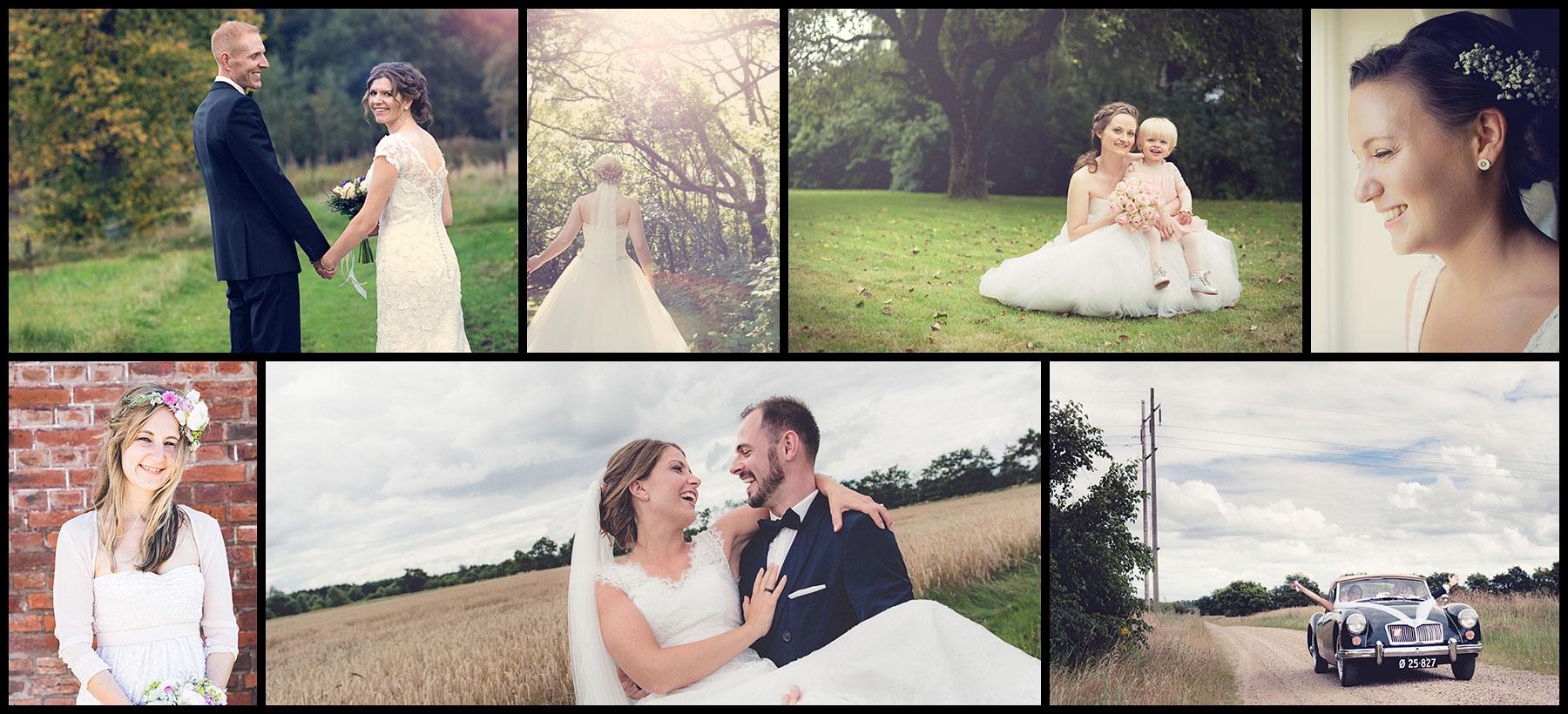 Collage af bryllupsfotografen fra Esbjerg